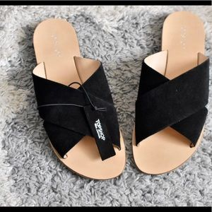 NWT Topshop Suede Criss Criss Slip ons